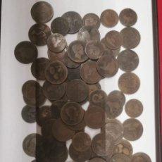 Monedas de España: GRAN LOTE DE 81 MONEDAS DE COBRE DE 5 Y 10 CENTIMOS ENTRE LOS AÑOS 1870 A 1878. Lote 245786925