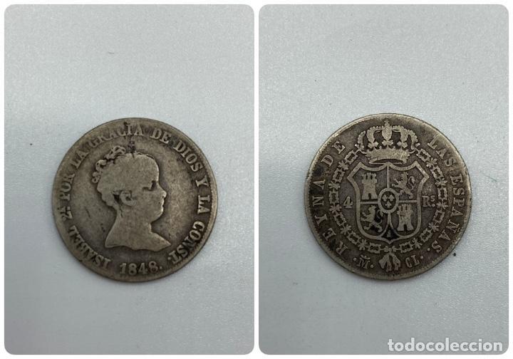 MONEDA. ISABEL II. 4 REALES. MADRID, 1848. VER FOTOS (Numismática - España Modernas y Contemporáneas - De Isabel II (1.834) a Alfonso XIII (1.931))