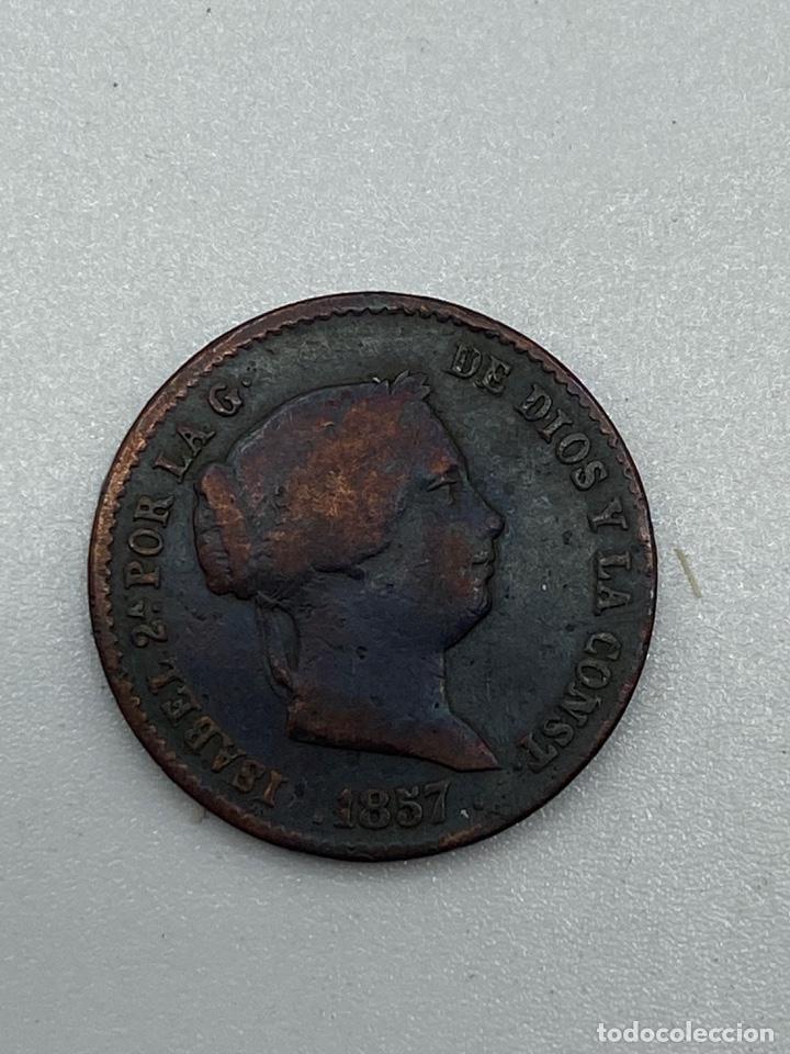 Monedas de España: MONEDA. ISABEL II. 10 CENTIMOS DE REAL. SEGOVIA. 1857. VER FOTOS - Foto 2 - 245788850