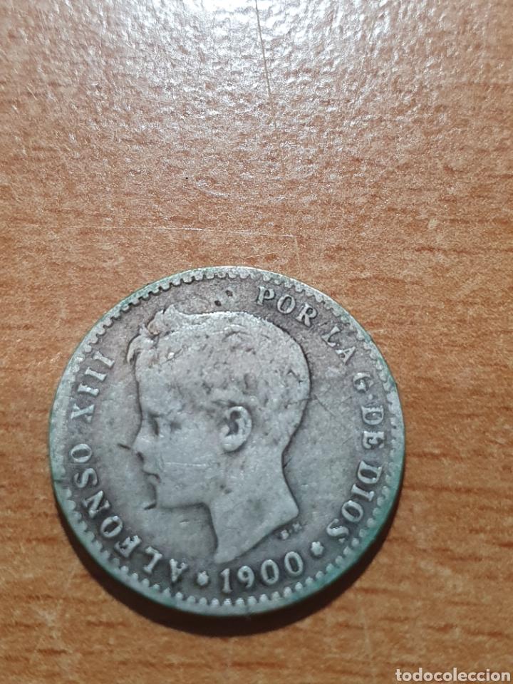 MONEDA ESPAÑOLA 50 CENTIMOS PLATA 1900 ALFONSO XIII (Numismática - España Modernas y Contemporáneas - De Isabel II (1.834) a Alfonso XIII (1.931))