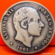 Monedas de España: ESPAÑA-ISLAS FILIPINAS, 20 CTS DE PESO, 1881. ALFONSO XII. PLATA. (962). Lote 245950565