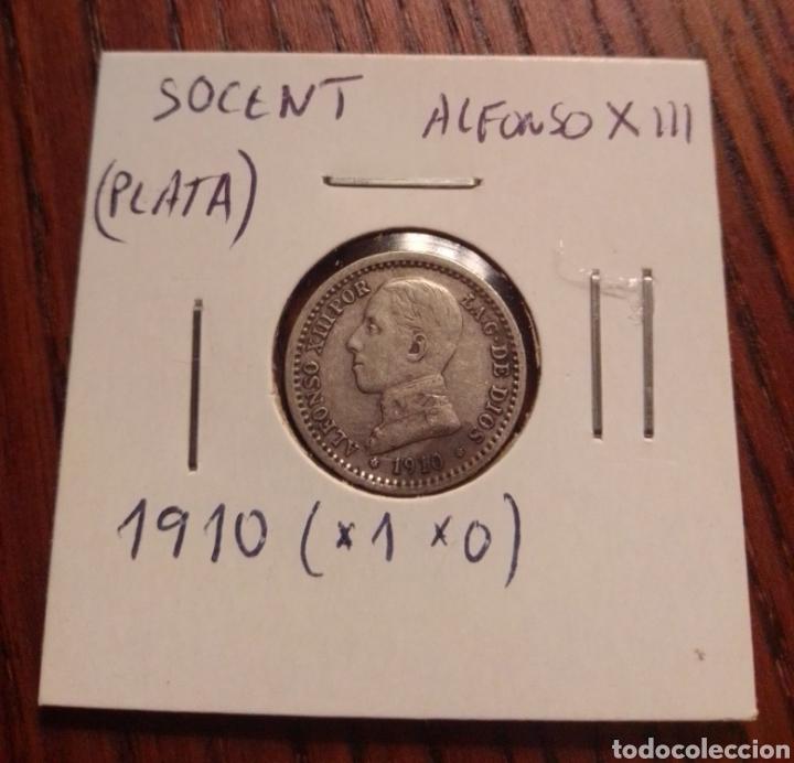 MONEDA 50 CÉNTIMOS PLATA 1910 (Numismática - España Modernas y Contemporáneas - De Isabel II (1.834) a Alfonso XIII (1.931))