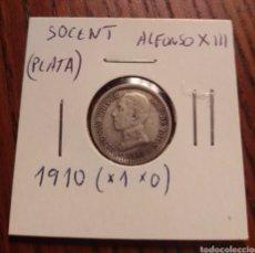 Monedas de España: MONEDA 50 CÉNTIMOS PLATA 1910. Lote 246148290