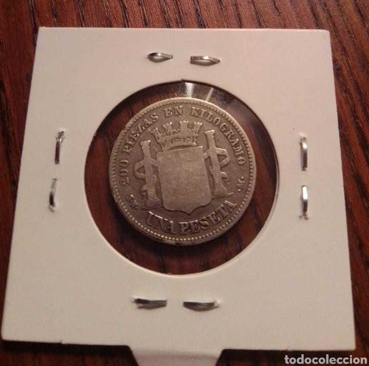 Monedas de España: Moneda 1 peseta plata 1869 - Foto 2 - 246148845