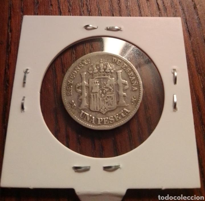 Monedas de España: Moneda 1 peseta plata 1876 - Foto 2 - 246149500