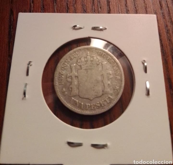 Monedas de España: Moneda 1 peseta plata 1881 - Foto 2 - 246149855