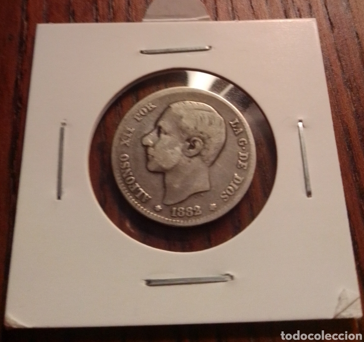 MONEDA 1 PESETA PLATA 1882 (Numismática - España Modernas y Contemporáneas - De Isabel II (1.834) a Alfonso XIII (1.931))