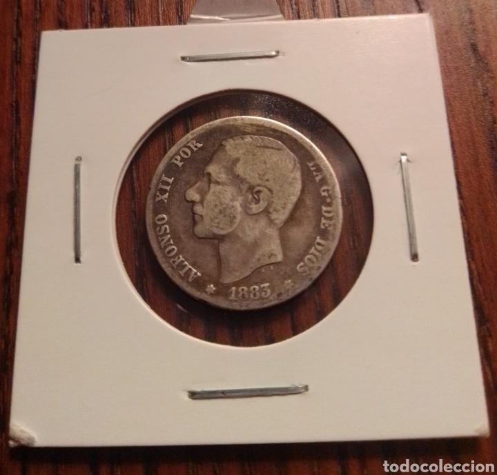 MONEDA 1 PESETA PLATA 1883 (Numismática - España Modernas y Contemporáneas - De Isabel II (1.834) a Alfonso XIII (1.931))
