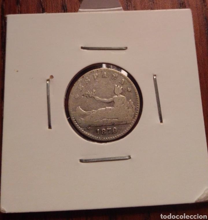 MONEDA 50 CENTIMOS PLATA 1870 (Numismática - España Modernas y Contemporáneas - De Isabel II (1.834) a Alfonso XIII (1.931))