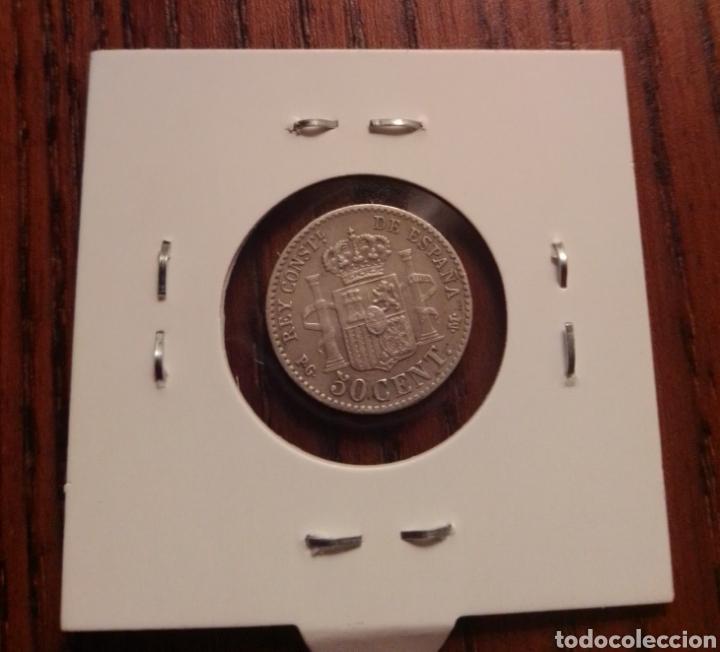 Monedas de España: Moneda 50 céntimos plata 1892 - Foto 2 - 246188130