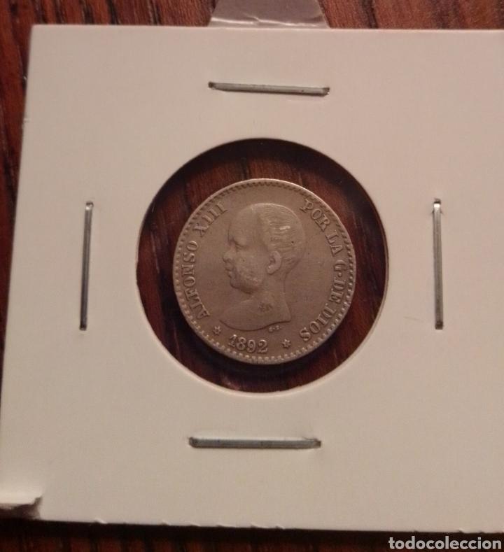MONEDA 50 CÉNTIMOS PLATA 1892 (Numismática - España Modernas y Contemporáneas - De Isabel II (1.834) a Alfonso XIII (1.931))