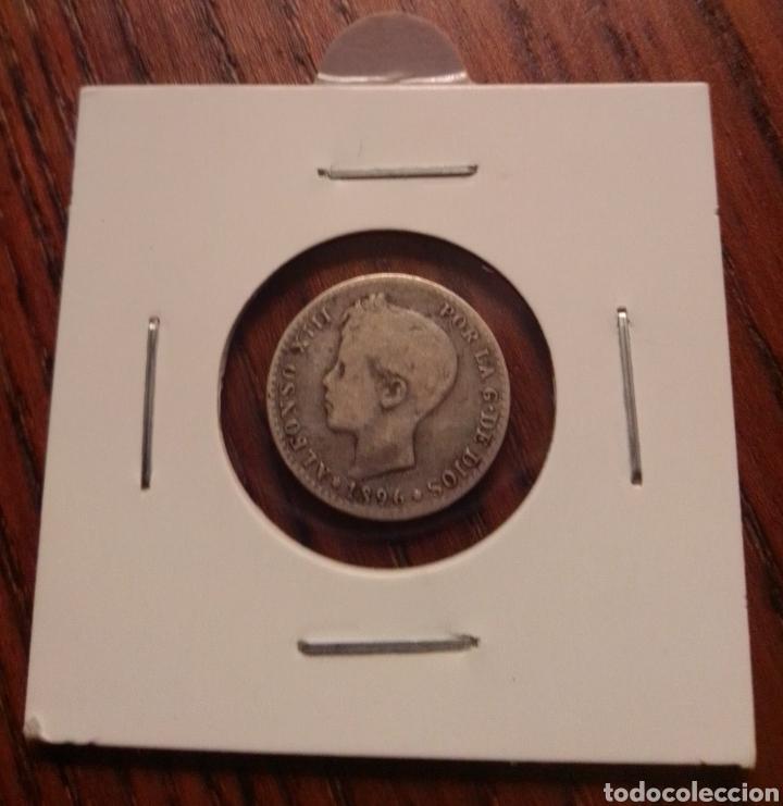 MONEDA 50 CÉNTIMOS PLATA 1897 (Numismática - España Modernas y Contemporáneas - De Isabel II (1.834) a Alfonso XIII (1.931))