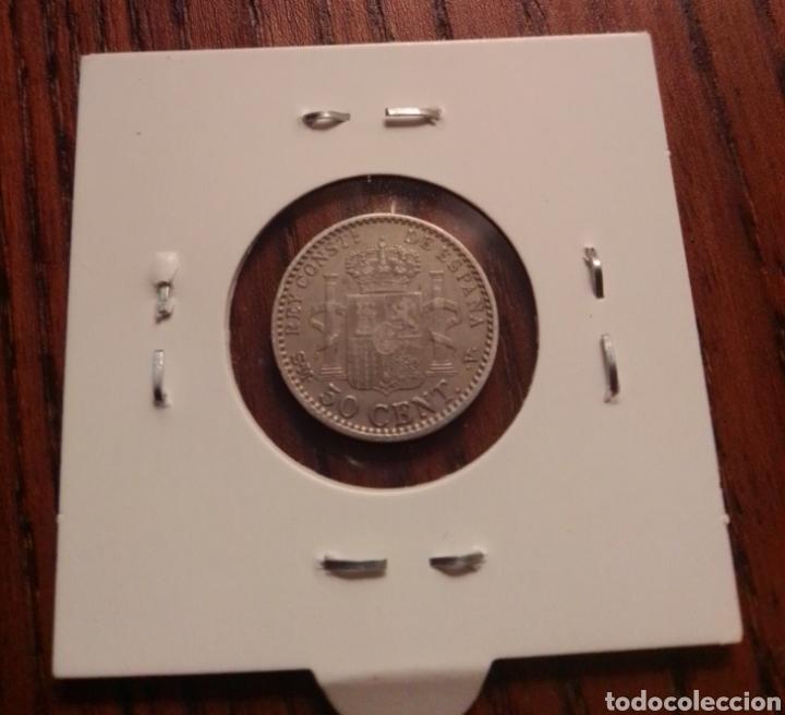 Monedas de España: Moneda 50 centimos plata 1900. - Foto 2 - 246188365