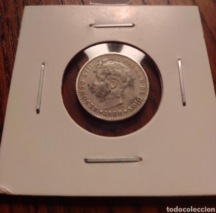 MONEDA 50 CENTIMOS PLATA 1900. (Numismática - España Modernas y Contemporáneas - De Isabel II (1.834) a Alfonso XIII (1.931))