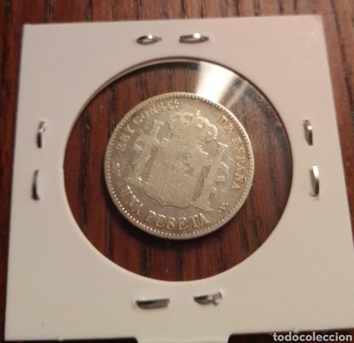 Monedas de España: Moneda 1 peseta 1902 - Foto 2 - 246188455