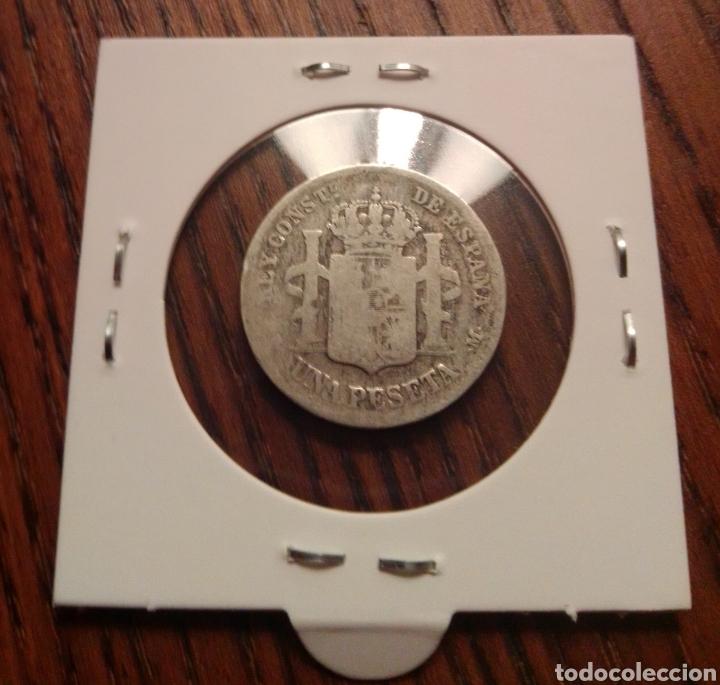 Monedas de España: Moneda 1 peseta plata 1889 - Foto 2 - 246189175