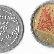 Monedas de España: DISCO MONEDA REPUBLICA -SELLO 10 CTS. **AGUA VALL-PAR** EBC (DIFISIL ADQUIRIR). Lote 246212925