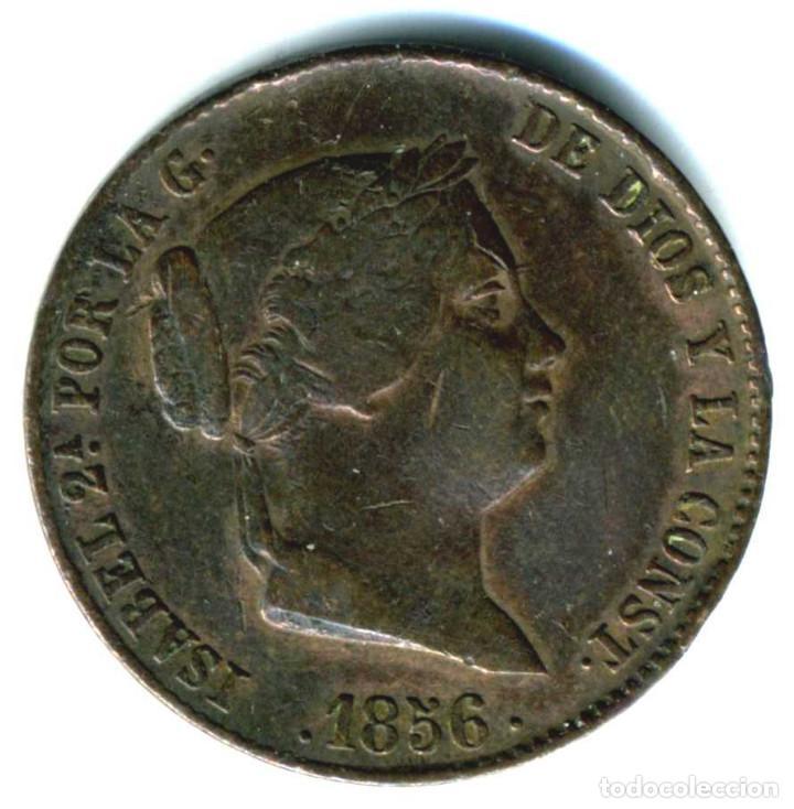 XS- ISABEL II 1 CUARTILLO / 25 CÉNTIMOS DE REAL 1856 SEGOVIA (Numismática - España Modernas y Contemporáneas - De Isabel II (1.834) a Alfonso XIII (1.931))