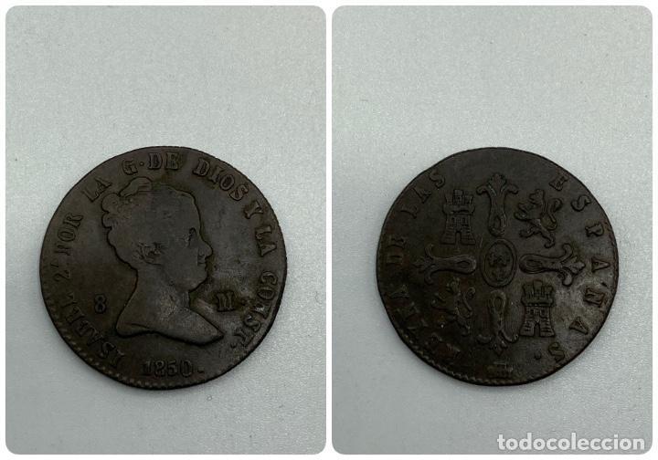 MONEDA. ESPAÑA. ISABEL II. 8 MARAVEDIES - MARAVEDIS. SEGOVIA. 1850. VER FOTOS (Numismática - España Modernas y Contemporáneas - De Isabel II (1.834) a Alfonso XIII (1.931))
