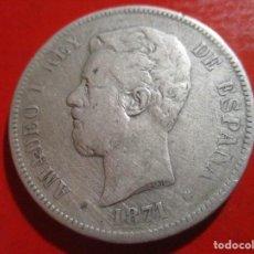 Monedas de España: AMADEO I. 5 PESETAS DE PLATA 1871 +71 SDM ·. Lote 246482580