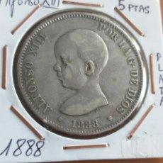 Monedas de España: PLATA, 1888 ALFONSO XIII 5 PTAS. Lote 246486110