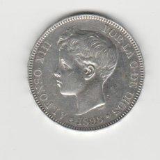 Monete da Spagna: ALFONSO XIII- 5 PESETAS- 1898*18-98 SGV. Lote 246595325