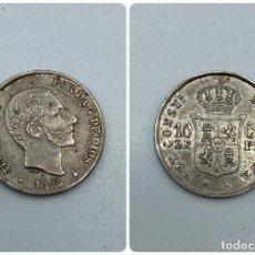 Monedas de España: MONEDA. FILIPINAS. ALFONSO XII. 10 CENTAVOS. 1885. VER FOTOS. Lote 246835910