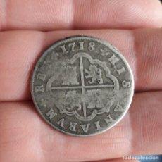 Monedas de España: 2 REALES FELIPE V. 1718. MONEDA ESPAÑA. SEGOVIA. J. PLATA.. Lote 247065855