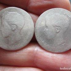 Monedas de España: LOTE DE MONEDAS DE 2 PESETAS DE PLATA DE ALFONSO XIII. Lote 247445495