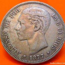 Monedas de España: ESPAÑA, 5 PESETAS, 1877*18 *77. D.E.M. ALFONSO XII. PLATA. (999). Lote 248836155