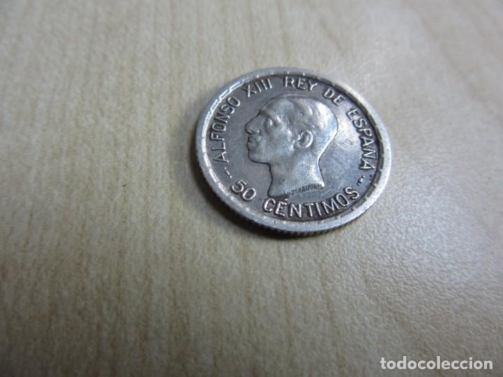 MONEDA DE PLATA DE 50 CÉNTIMOS EPOCA ALFONSO XIII FECHADA 1926 (Numismática - España Modernas y Contemporáneas - De Isabel II (1.834) a Alfonso XIII (1.931))