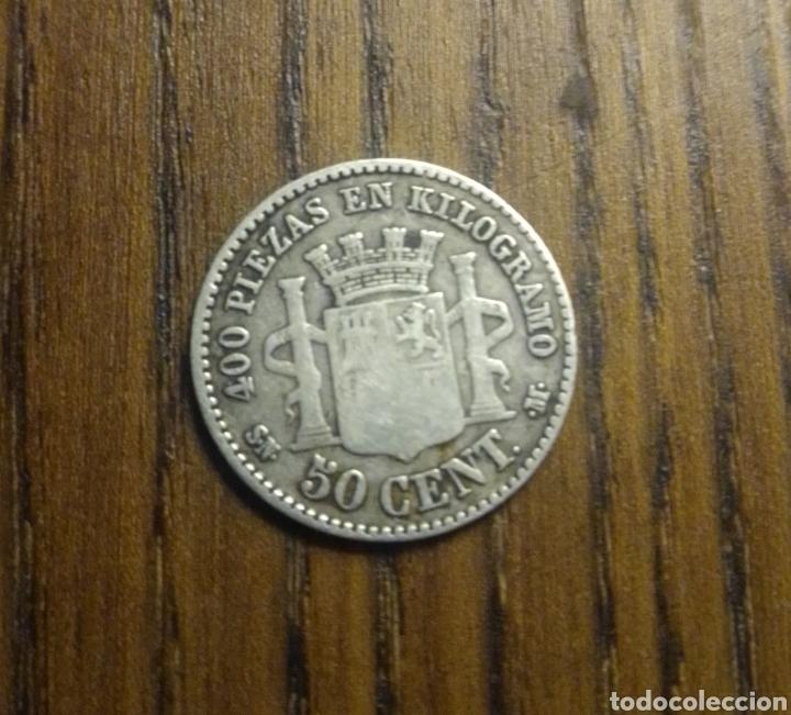 Monedas de España: Moneda 50 céntimos 1869 plata - Foto 2 - 249409965