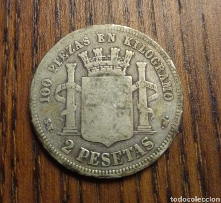 Monedas de España: Moneda 2 pesetas 1870 plata - Foto 2 - 249563325
