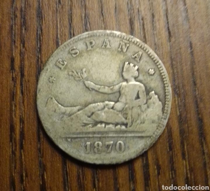 MONEDA 2 PESETAS 1870 PLATA (Numismática - España Modernas y Contemporáneas - De Isabel II (1.834) a Alfonso XIII (1.931))