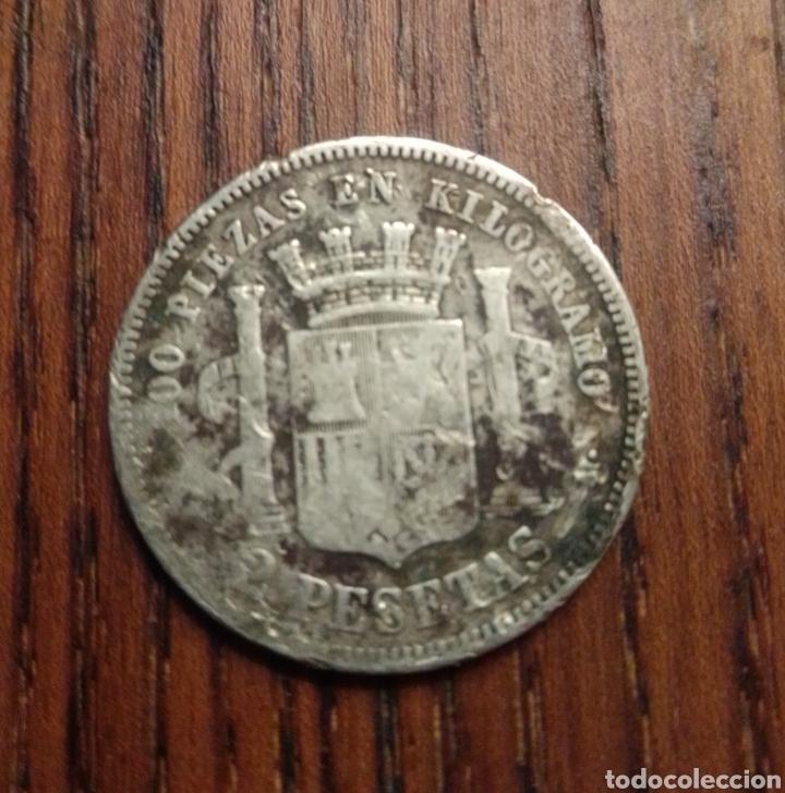 Monedas de España: Moneda 2 pesetas 1870 plata - Foto 2 - 249563585