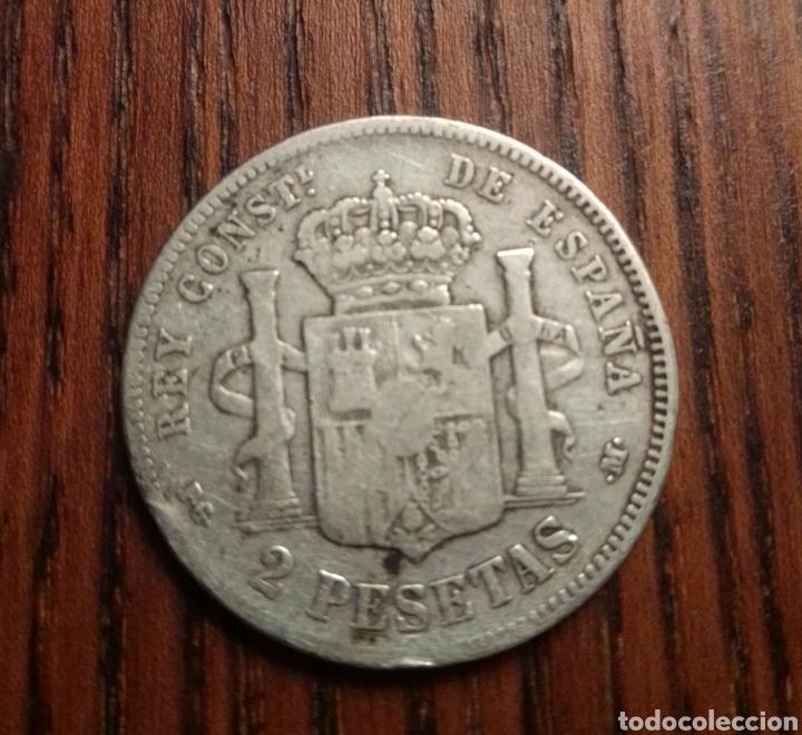 Monedas de España: Moneda 2 pesetas 1892 plata - Foto 2 - 249564535