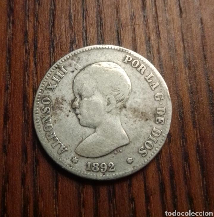 MONEDA 2 PESETAS 1892 PLATA (Numismática - España Modernas y Contemporáneas - De Isabel II (1.834) a Alfonso XIII (1.931))