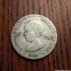 Monedas de España: MONEDA 2 PESETAS 1892 PLATA. Lote 249564535