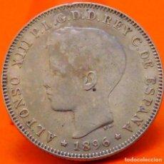 Monedas de España: ISLA DE PUERTO RICO, 40 CENTAVOS, 1896. ALFONSO XIII. PLATA. (1006). Lote 250248915