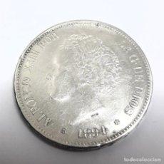 Monedas de España: MONEDA DE PLATA DE CINCO PESETAS ALFONSO XIII 1894 ESTRELLAS 18 - 94 EN BUEN ESTADO. Lote 250254880