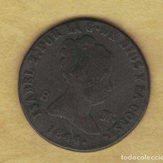 Monedas de España: ISABEL II 8 MARAVEDÍS 1844 SEGOVIA M187. Lote 250341335