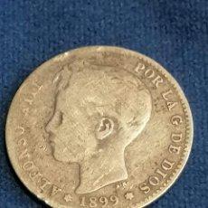 Monedas de España: LOTE 2 MONEDAS ALFONSO XIII PLATA 1 PESETA AÑOS 1899 1896. Lote 251025200