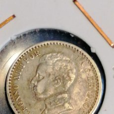 Monedas de España: MONEDA ALFONSO XIII PLATA 50 CENTIMOS AÑO 1904 SMV MBC + PATINA ORIGINAL. Lote 251025870
