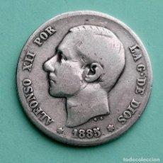 Monedas de España: ANTIGUA MONEDA DE ESPAÑA 1 PESETA 1885 ALFONSO XII, PLATA 835 SM-M. Lote 251055495