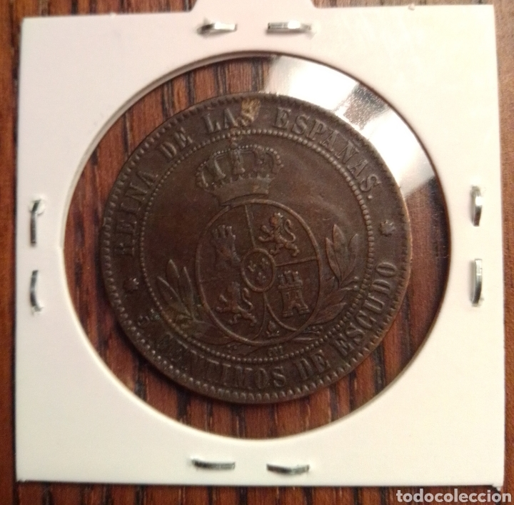 Monedas de España: Moneda 5 centimos de escudo 1868 barcelona - Foto 2 - 251269240