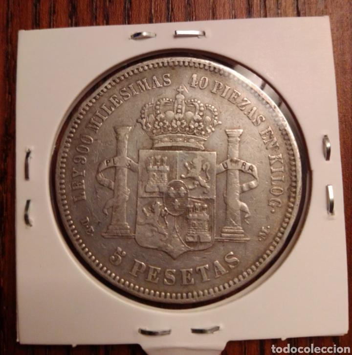 Monedas de España: Moneda 5 pesetas plata 1876 DEM - Foto 2 - 251271115