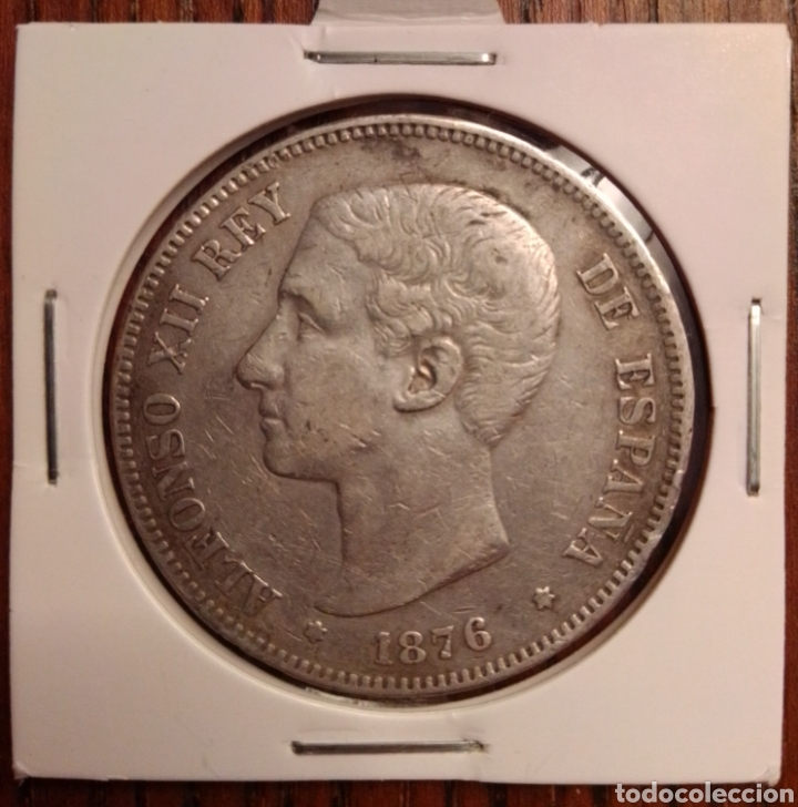 MONEDA 5 PESETAS PLATA 1876 DEM (Numismática - España Modernas y Contemporáneas - De Isabel II (1.834) a Alfonso XIII (1.931))