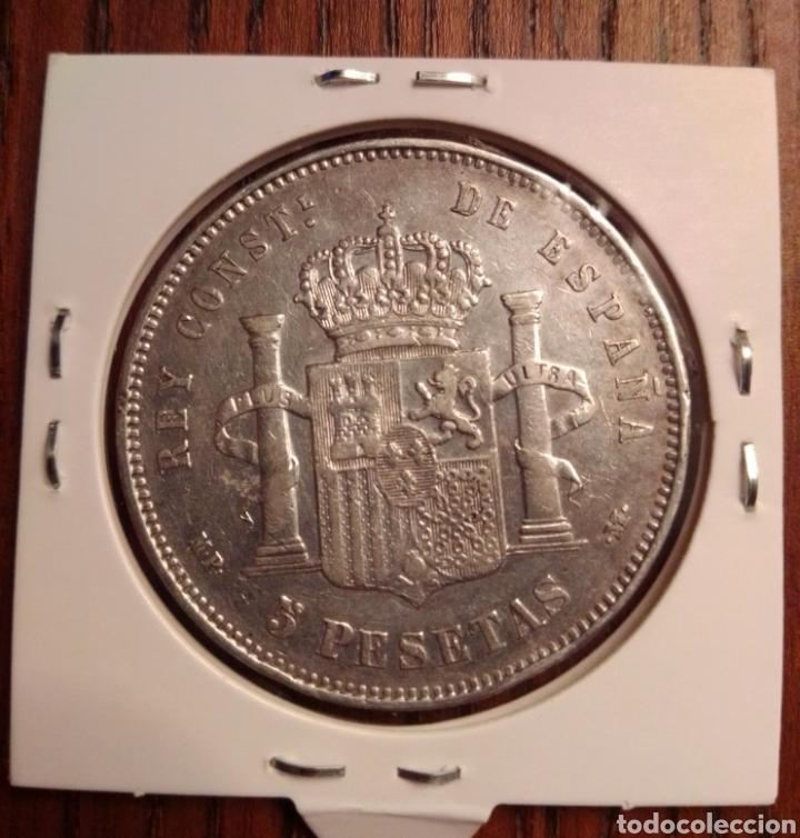 Monedas de España: Moneda 5 pesetas plata 1888 MPM - Foto 2 - 251271420
