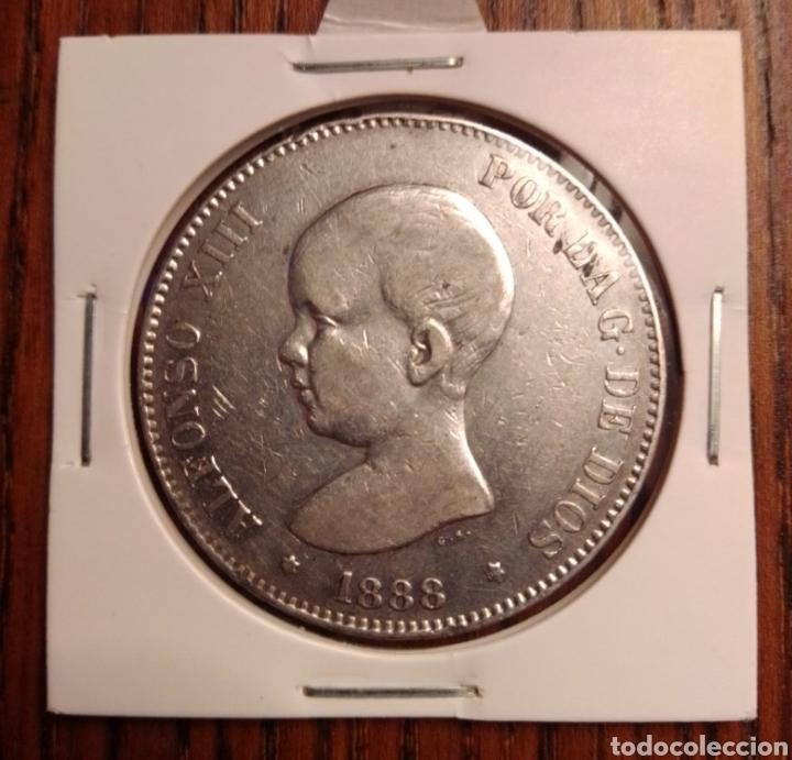 MONEDA 5 PESETAS PLATA 1888 MPM (Numismática - España Modernas y Contemporáneas - De Isabel II (1.834) a Alfonso XIII (1.931))