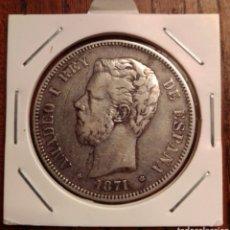 Monedas de España: MONEDA 5 PESETAS PLATA 1871 SDM. Lote 251283455